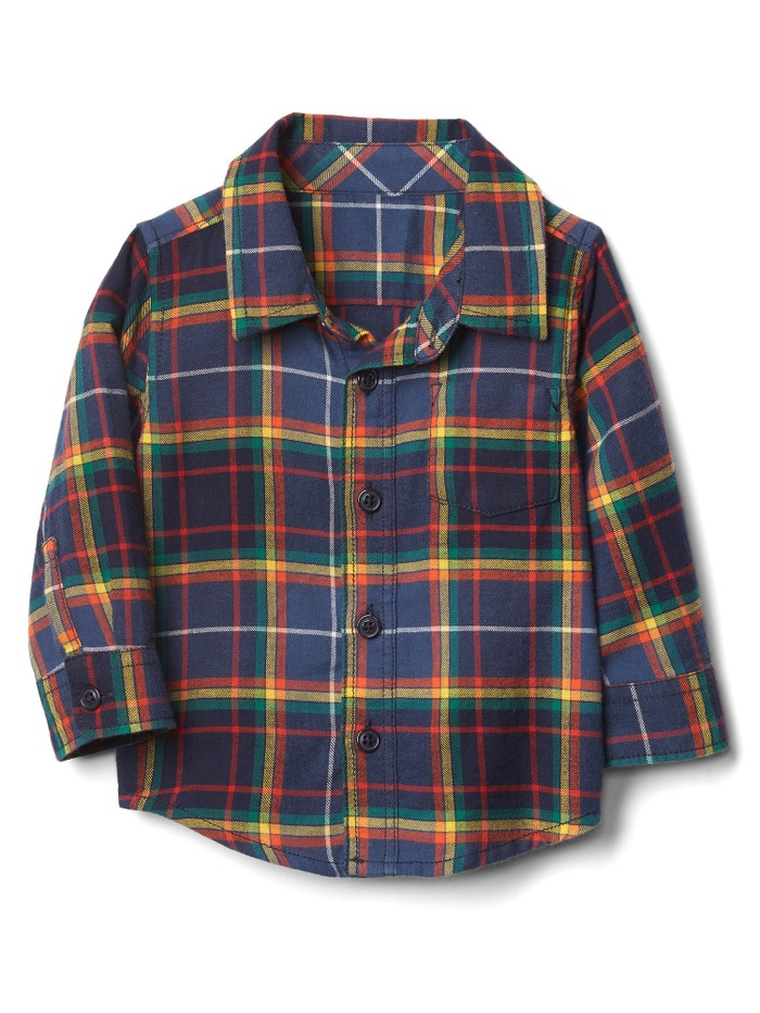 Colorful plaid flannel shirt