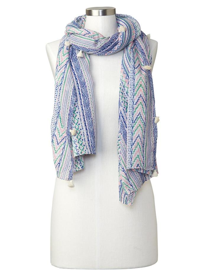 Geo tassle scarf