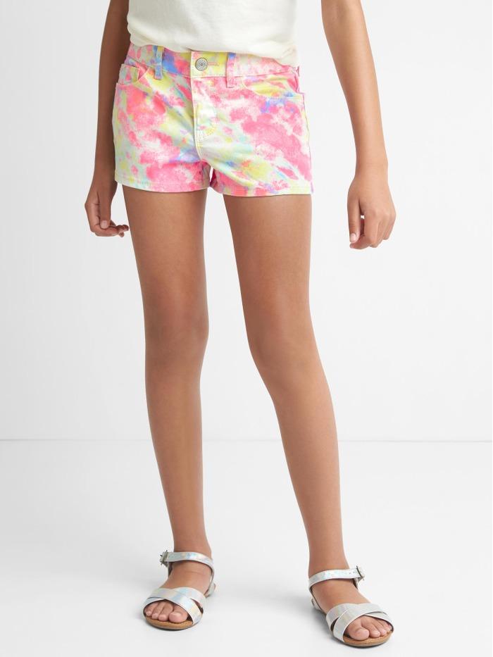 Tie-Dye Shortie Shorts