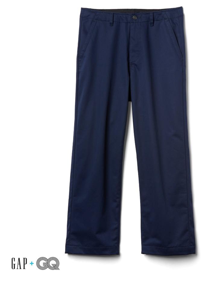 Gap + GQ UA wide-leg khakis