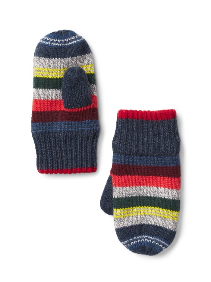 Crazy stripe mittens