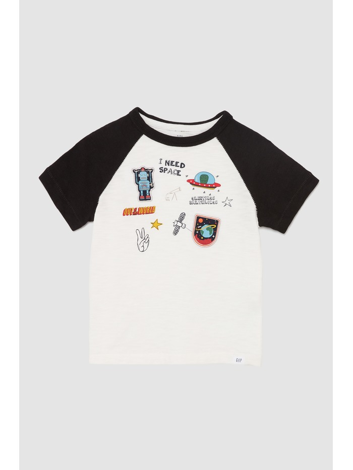 Gestickte Patches Short Sleeve Tee