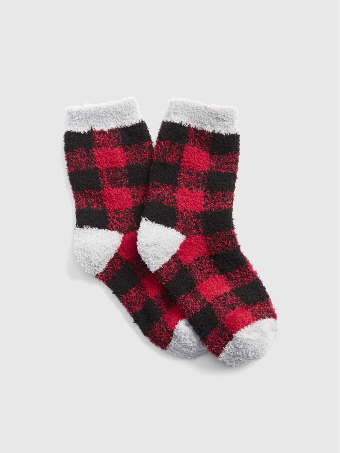 Cozy Buffalo Plaid Socks