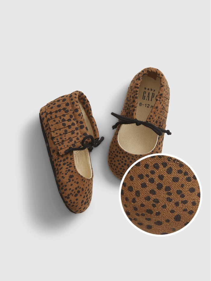 Baby Leopard Print Moccasins