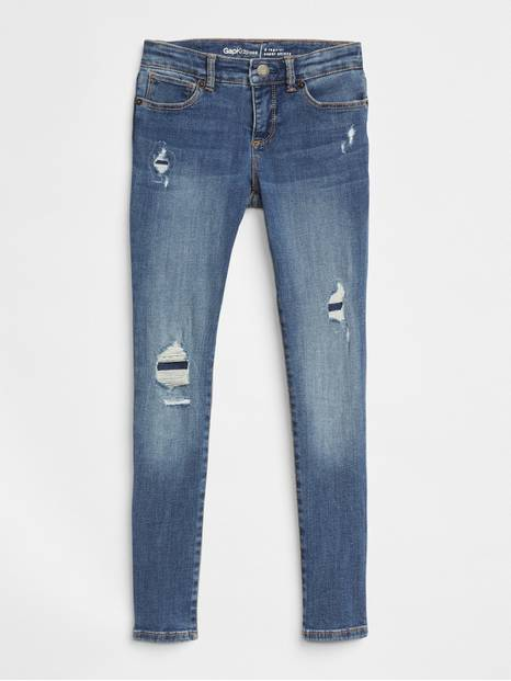Kids Destruction Super Skinny Jeans with Fantastiflex