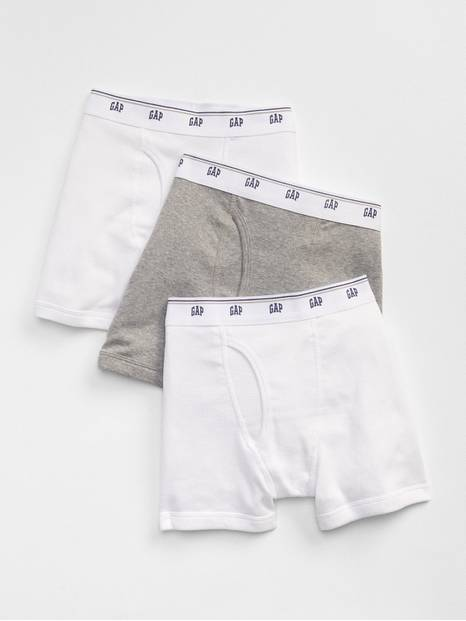 Kids Solid Boxer Briefs (3-Pack)