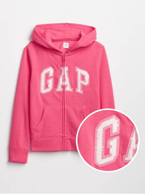 Kids Gap Logo Zip Hoodie In Fleece