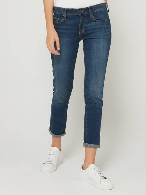 Mid-Waist Girlfriend Jean Pants