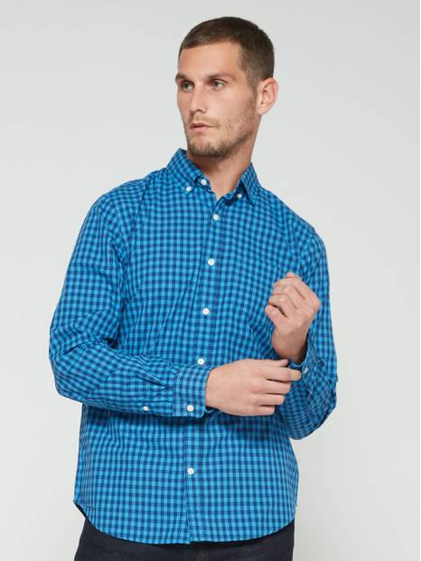 Poplin Long Sleeve Shirt in Standard Fit