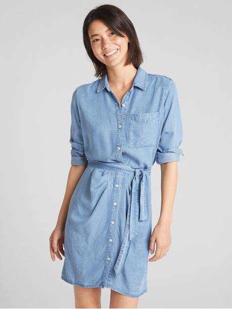 Perfect Tie-Belt Shirtdress in TENCEL&#153
