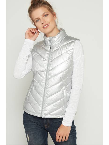 Metallic Padded Gilet