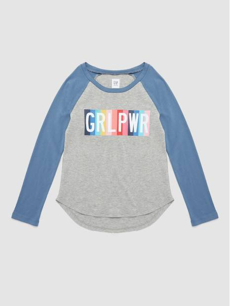 Glitter Graphic Raglan T-Shirt