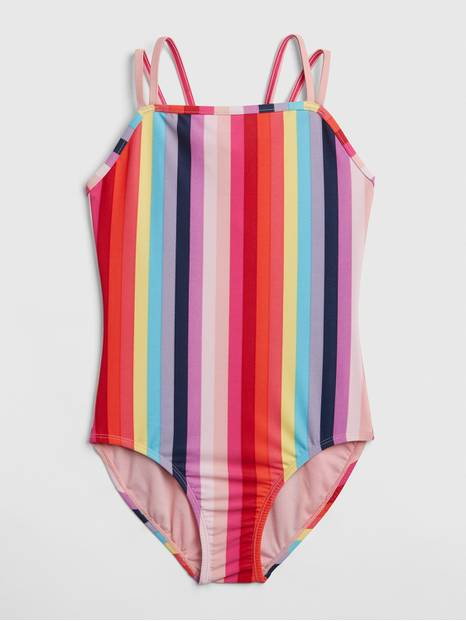 Crazy Stripe Strappy Swim One-Piece