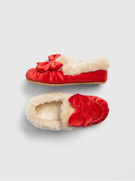 Velvet Crazy Moccasin Slippers