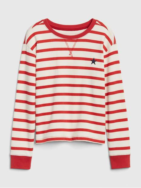 Kids Stripe Star Sweatshirt