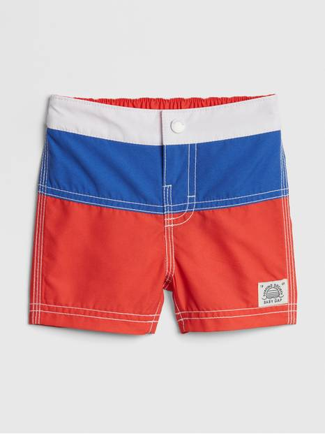 Baby Colorblock Swim Trunks