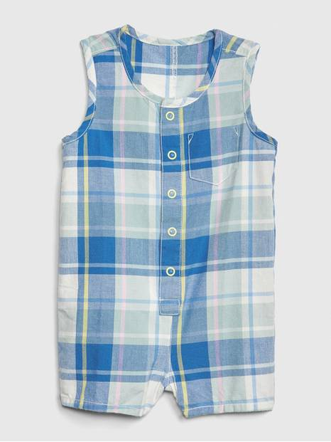Baby Plaid Tank Shorty One-Piece