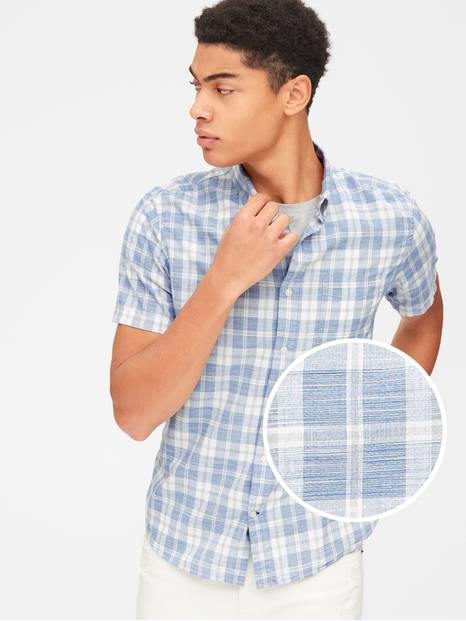 Lived-In Stretch Poplin Short Sleeve Shirt