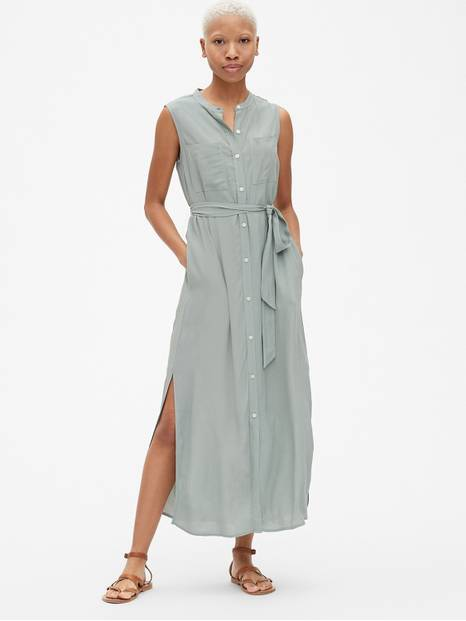 Perfect Sleeveless Maxi Shirtdress