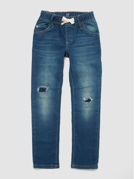 Kids Superdenim Pull-On Slim Jeans with Fantastiflex