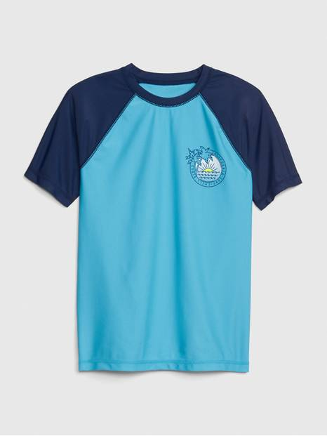 Kids Graphic Short Sleeve Rashguard