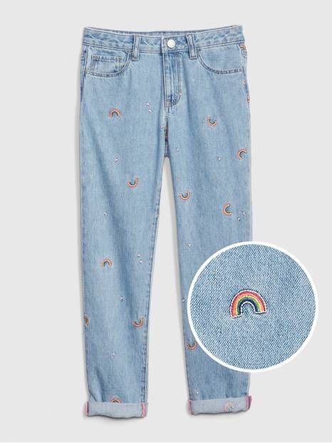 Kids Rainbow Girlfriend Jeans