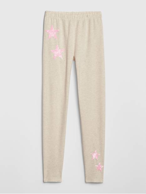 Kids Flippy Sequin Leggings in Stretch Jersey