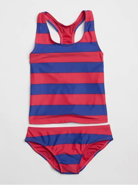Kids Stripe Swim Two-Piece