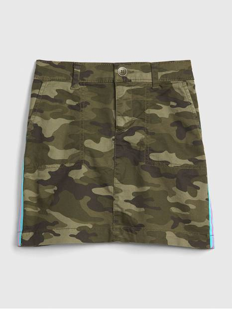 Kids Camo Side-Stripe Skirt