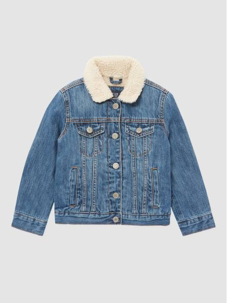 Kids Icon Sherpa Lined Denim Jacket