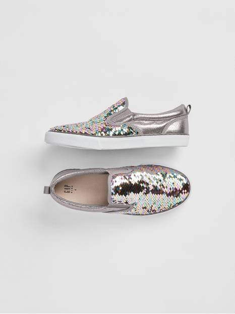 Kids Fippy Sequin Slip-On Sneakers