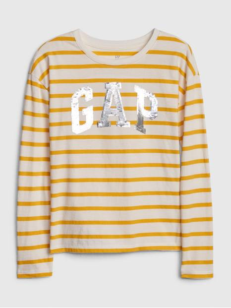 Kids Gap Logo Flippy Sequin T-Shirt