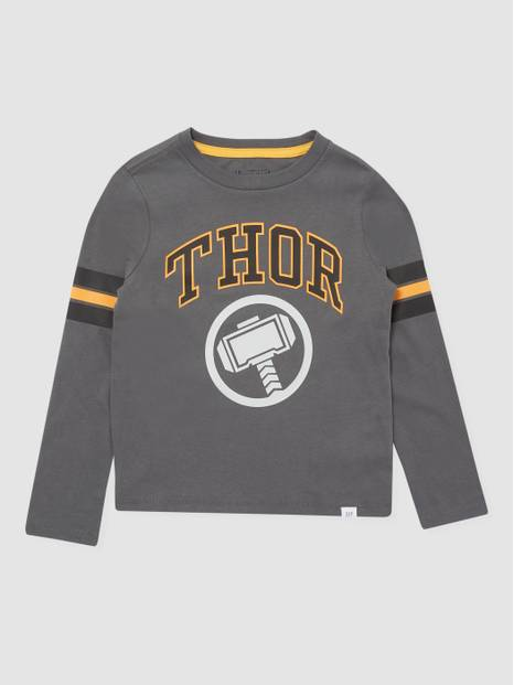 Kids Gap Marvel Long Sleeve Graphic T-Shirt