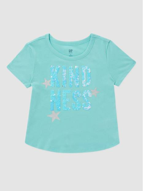 Kids Crewneck Flippy Sequin T-Shirt