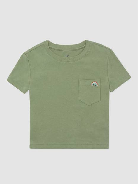 Kids Pocket Embroidered Crewneck T-Shirt