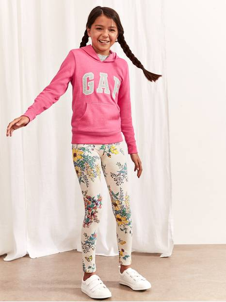 Kids Print Leggings in Stretch Jersey