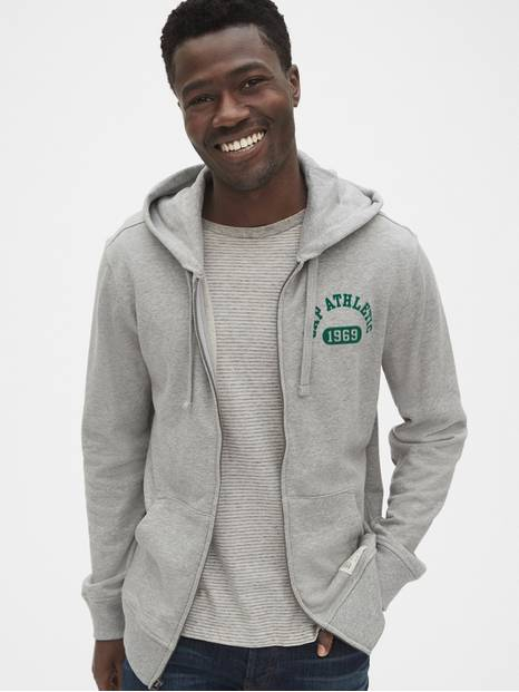 Gap Athletic Logo Full-Zip Hoodie