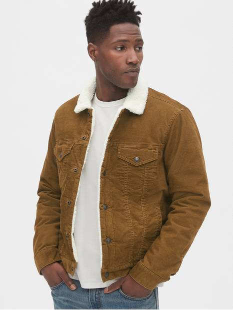Sherpa-Lined Icon Corduroy Jacket
