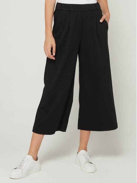 Pull-On Crop Wide-Leg Pants