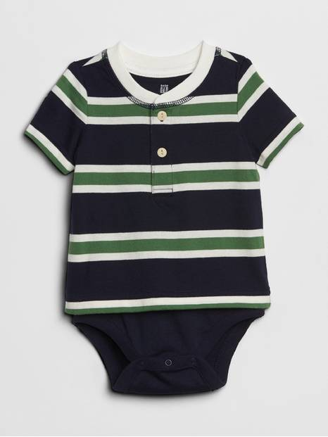 Baby Stripe Short Sleeve Body Double