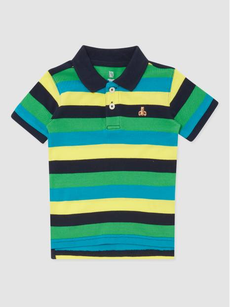 Toddler Brannan Bear Striped Polo Shirt