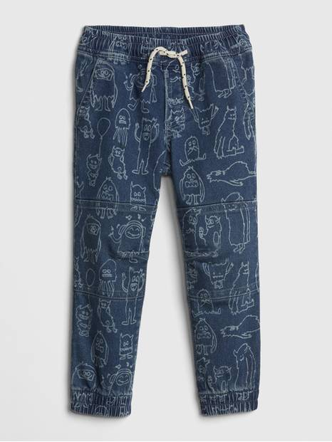 Toddler Monster Print Joggers