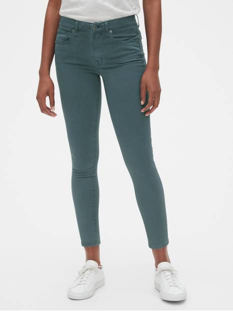 Soft Wear Mid Rise True Skinny Ankle Jeans in Color