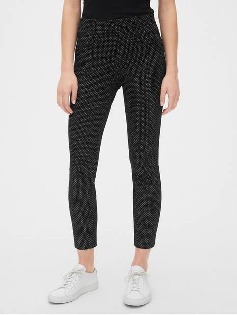 Polka Dot Skinny Ankle Pants