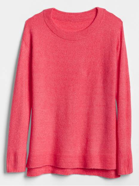 Crewneck Pullover Sweater Tunic