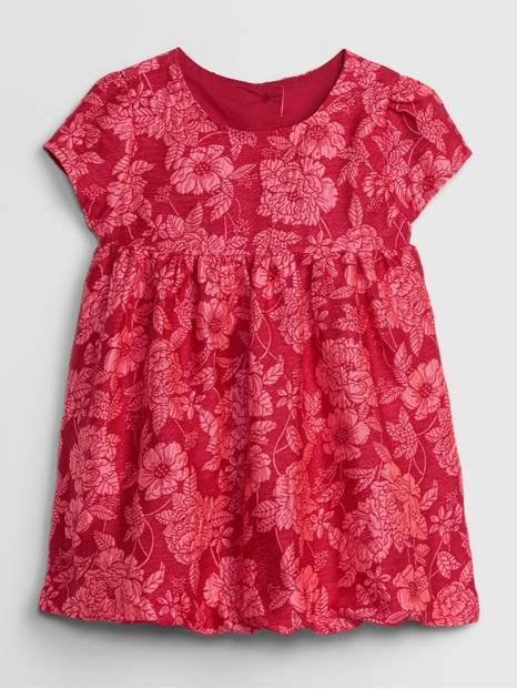 Baby Jacquard Empire-Waist Dress