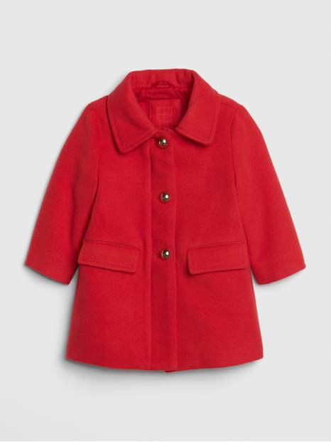 Baby Button-Front Peacoat