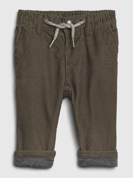 Baby Jersey-Lined Cord Pull-On Pants