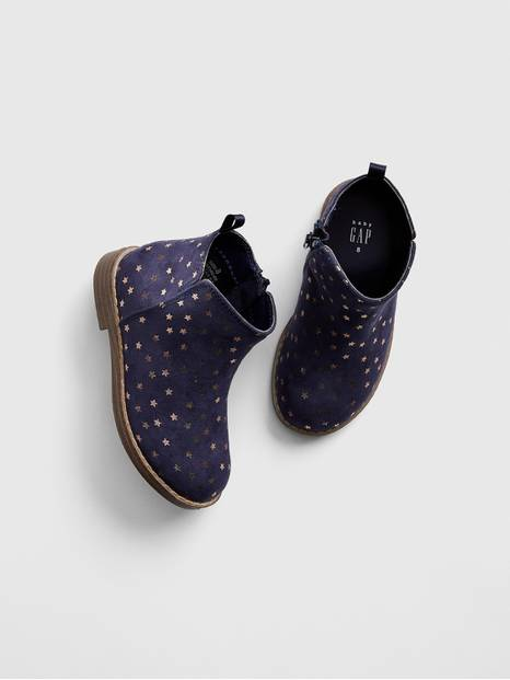 Toddler Star Faux-Suede Booties