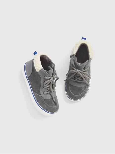 Toddler Cord Sherpa Hi-Top Sneakers